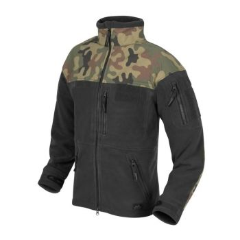 Polar Helikon INFANTRY Fleece Czarny-Black/ PL Woodland (BL-INF-HF-17)
